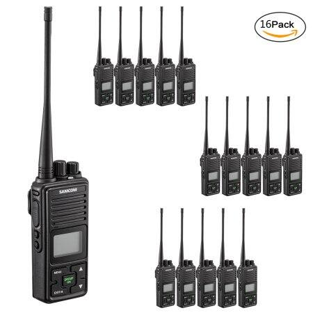 Walkie Talkie,Samcom FPCN10A 20 Channel with Group Button Two Way Radio,UHF 400-470MHz with 3km Range(Pack of 9) $319.9