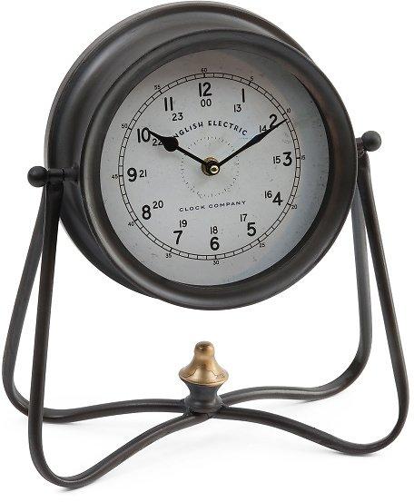 Metal Table Clock (Black) $24.99