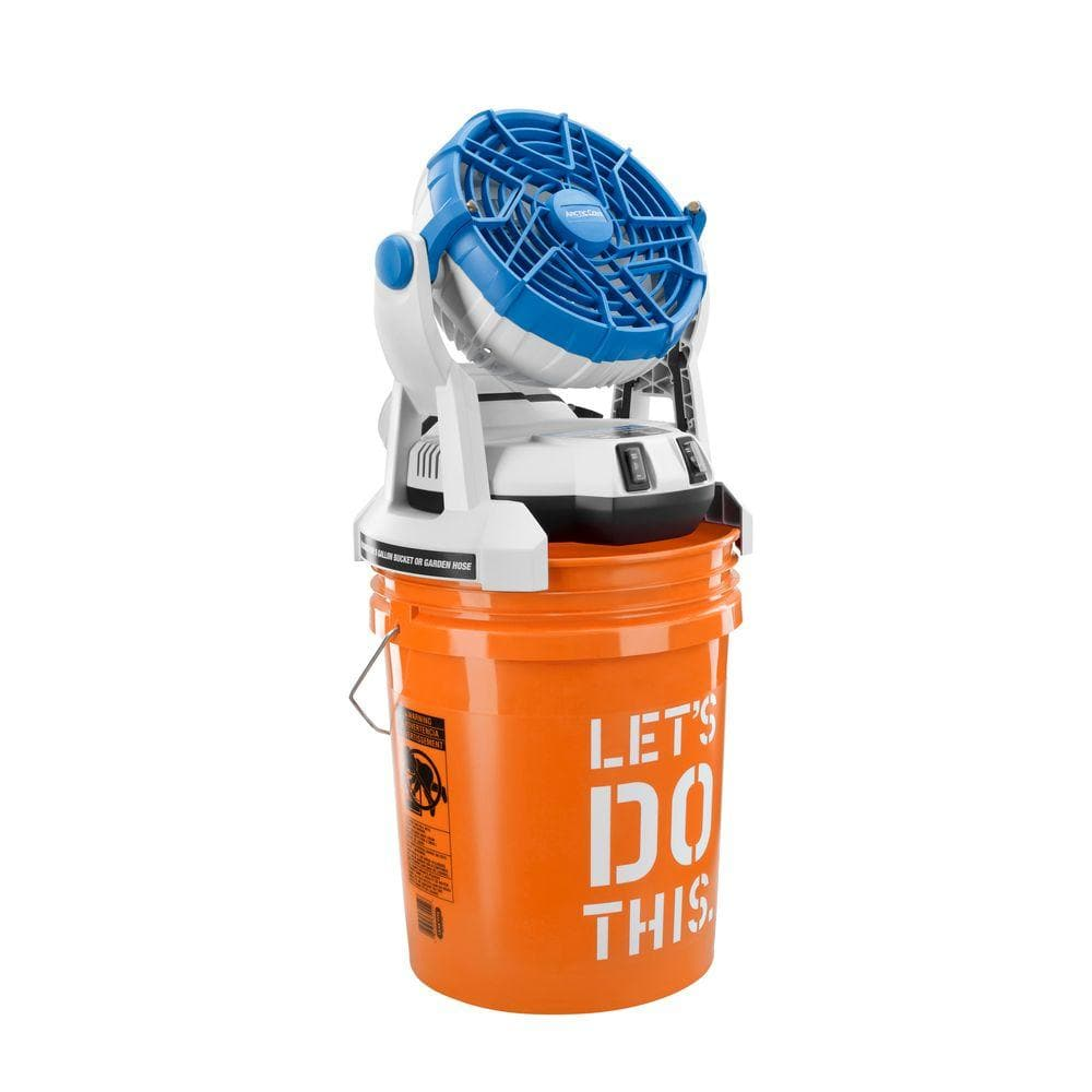 Arctic Cove - 18-Volt Two Speed Misting Bucket Top Fan + 18v Battery/Charger- Ryobi Tools Compatable $20.02 YMMV