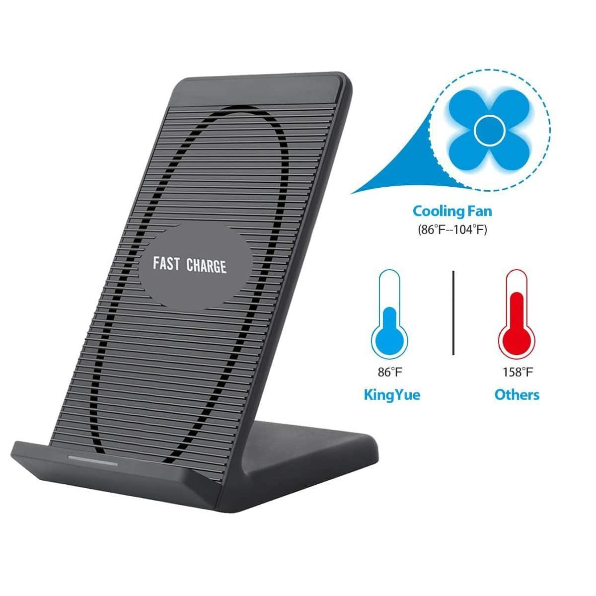 the best attitude 467e3 f5996 iPhone X Wireless Charger,Ehpow Built-in Cooling Fan Qi for $13.8 ...