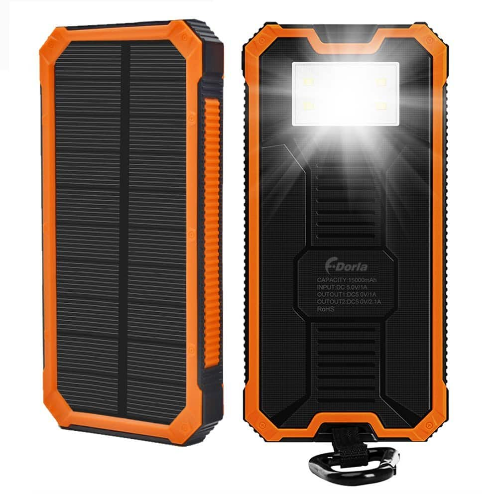 15000mAh Solar Charger , Portable Power Bank  for $14 @ Amazon