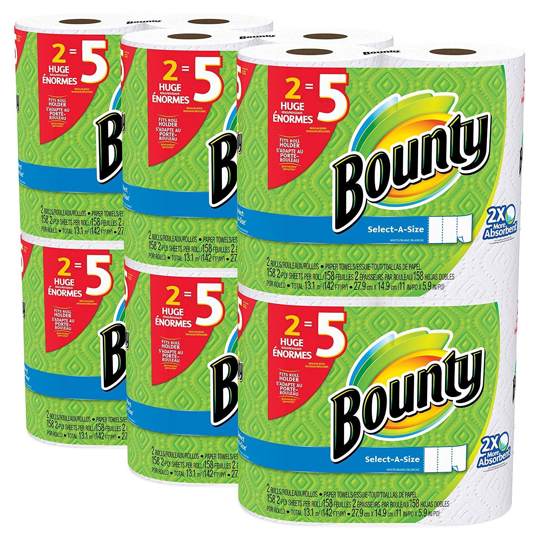 Bounty 12 Huge Rolls (=30), $22