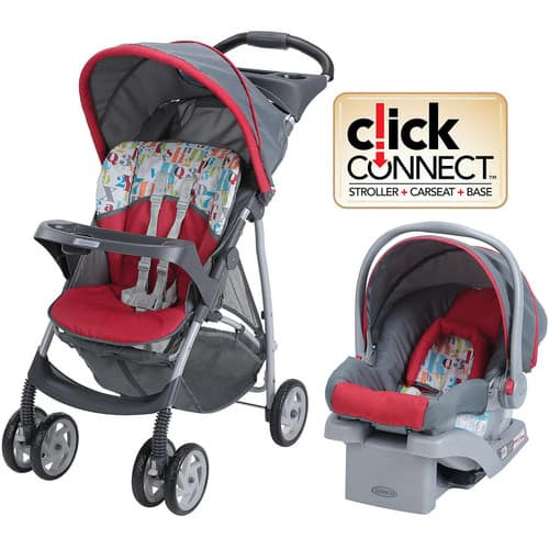 Graco LiteRider Click Connect Travel System, with SnugRide Click Connect 22 Infant Car Seat, Signal $88.85@walmart