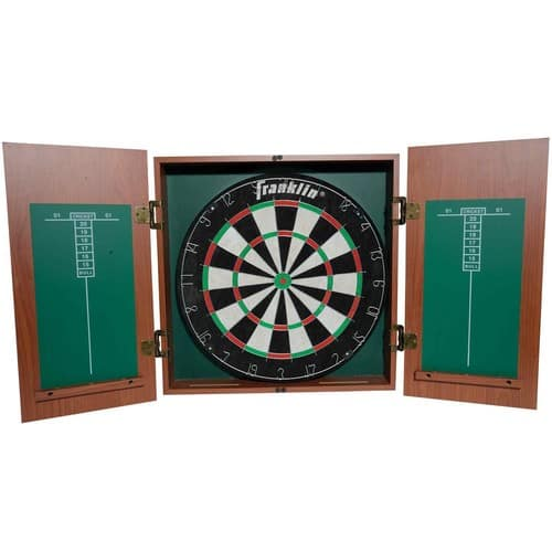 Franklin Bristle Dartboard With Cabinet $25@walmart