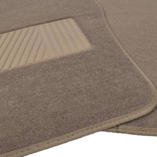 BDK Premium Heavy-Carpeted Floor Mats for Car, 4-Piece, Extra Carpet Cushion, Rubberized Backing $9.60@walmart