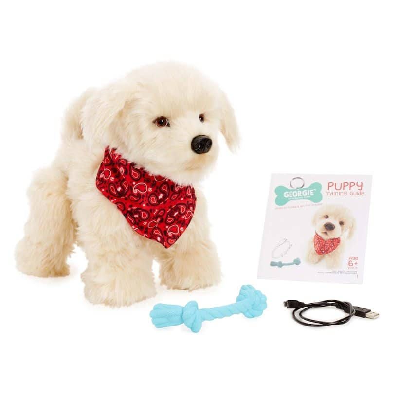 Georgie Interactive 12-inch Electronic Puppy - Ivory $39.98 +fs@toysrus