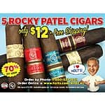 5 Rocky Patel Cigar Sampler - $12 Shipped!