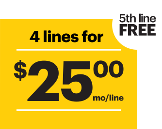 Sprint Unlimited freedom plan 5 lines for  $100