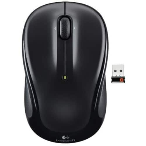 Logitech M325 Wireless Optical Mouse, Ambidextrous, Black (910-002974) $9.99