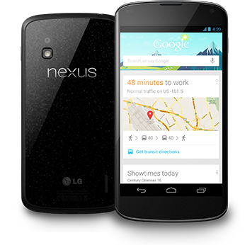 Nexus 4 available 9am PST 01/29/2013 in Google Store