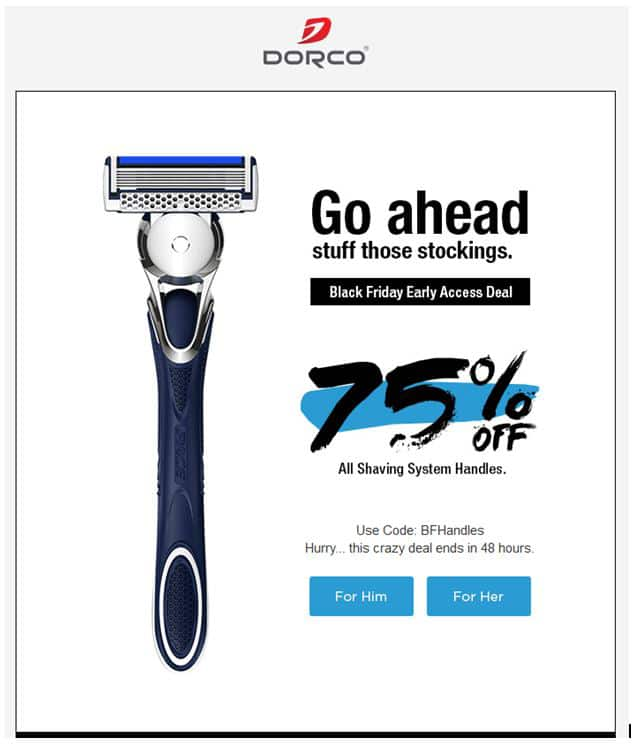 Dorco All Shaving System Handles 75% Off EXPIRES Midnight Nov 18th