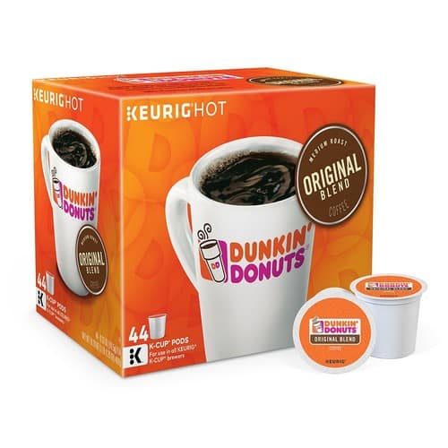 Keurig - Dunkin' Donuts Original Blend K-Cup® Pods (44-Pack) - Brown $20 @Bestbuy.
