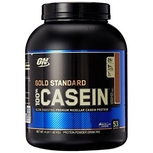 Optimum Nutrition Gold Standard 100% Casein Protein Powder, Chocolate Peanut Butter, 4 lbs $37.45