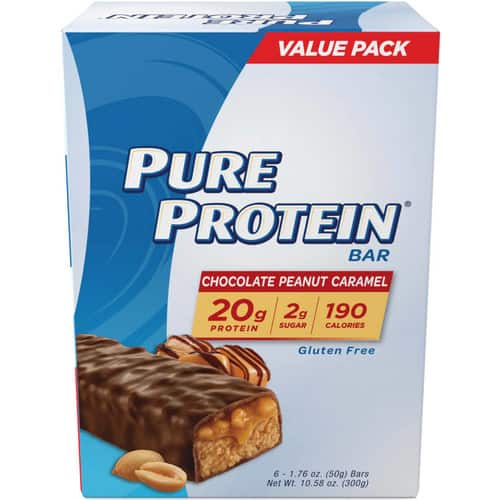 Pure Protein® Chocolate Peanut Caramel protein bars, 50 gram, 6 ct $5.11