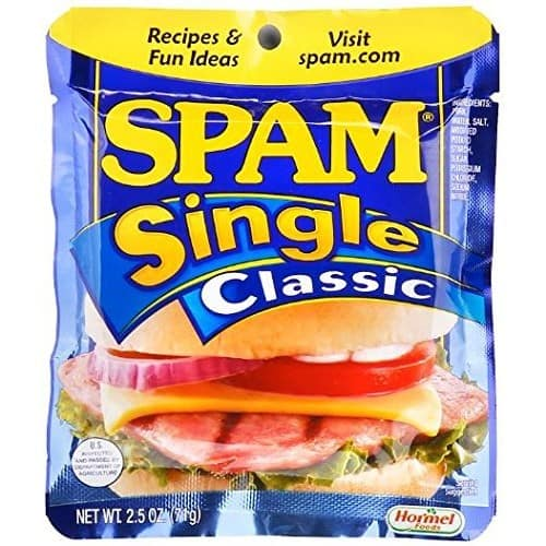SPAM Classic - Ham - Shelf Stable Protein - Single Serve - 2.5 Ounce (Pack of 24) $15.68
