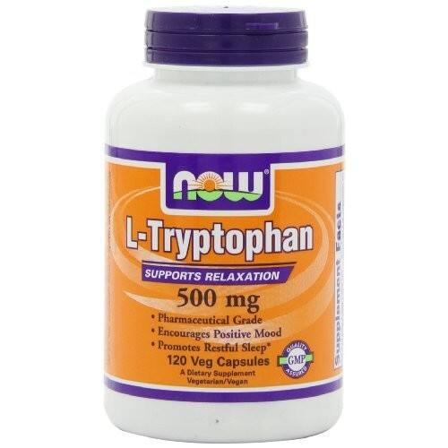 NOW L-Tryptophan 500 mg,120 Veg Capsules [120] $14.99 @amazon