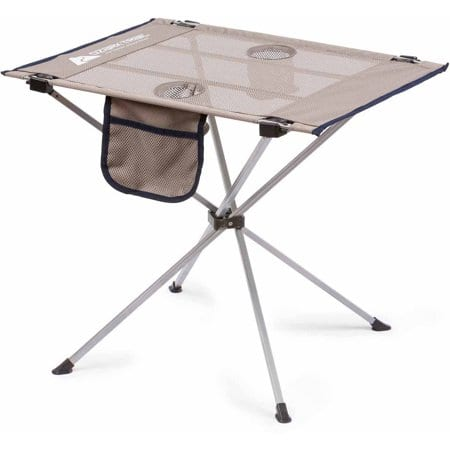 Ozark Trail Small Compact Side Table, Warm Gray $19