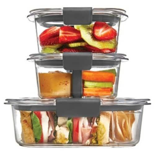 Rubbermaid 10pc Brilliance Sandwich or Snack Lunch Container $13.04