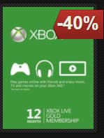 Xbox Live 12 Month Gold Membership (Xbox One/360) for  $42.18 @ gamesdeal.com