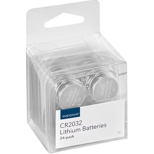 Insignia™ - CR2032 Batteries (24-Pack) $9.99@bestbuy