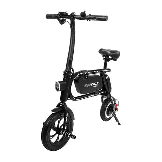 Swagtron 200W SWAGCYCLE Envy Steel Frame Folding Electric Bicycle e Bike w/Automatic Headlight for $299.99 with $15 Large Item Shipping Fee $314.99