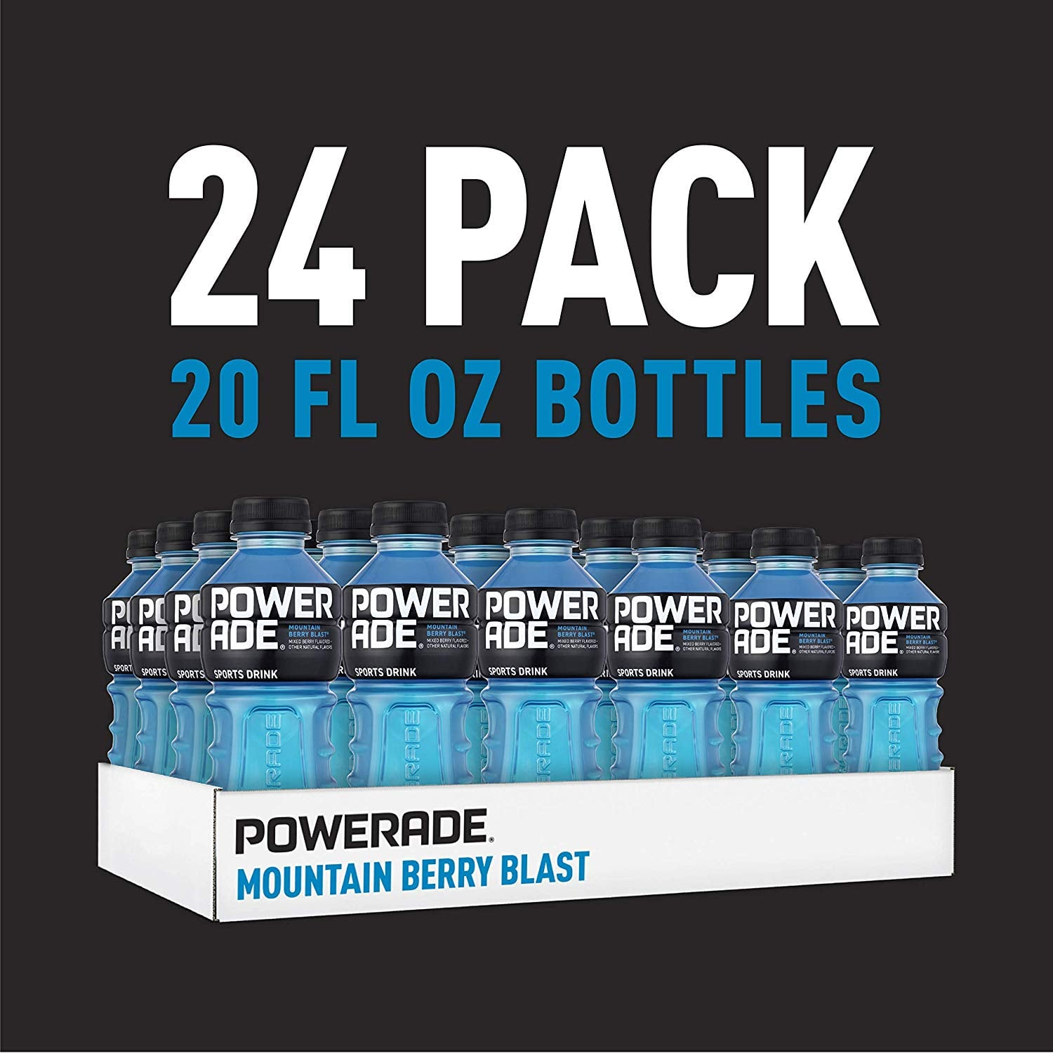 POWERADE Sports Drink, Mountain Berry Blast & others, 20 fl oz, 24 Pack Free Prime Delivery $10.02