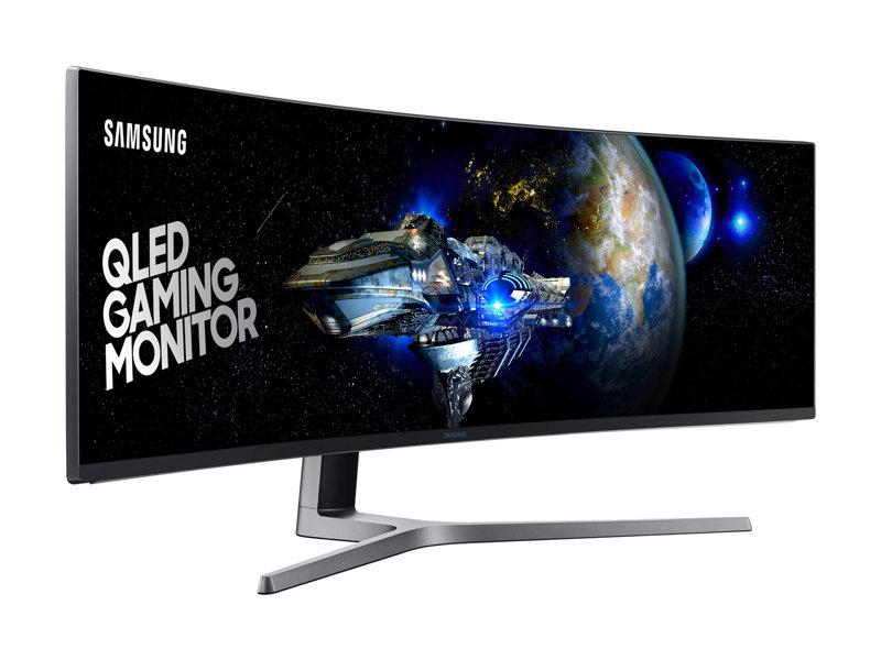 Samsung 49 QLED Gaming Monitor - Model #LC49HG90DMNXZA $979.99 - 3840 X 1080 - 144hz - 1ms - VA panel - Free Sync