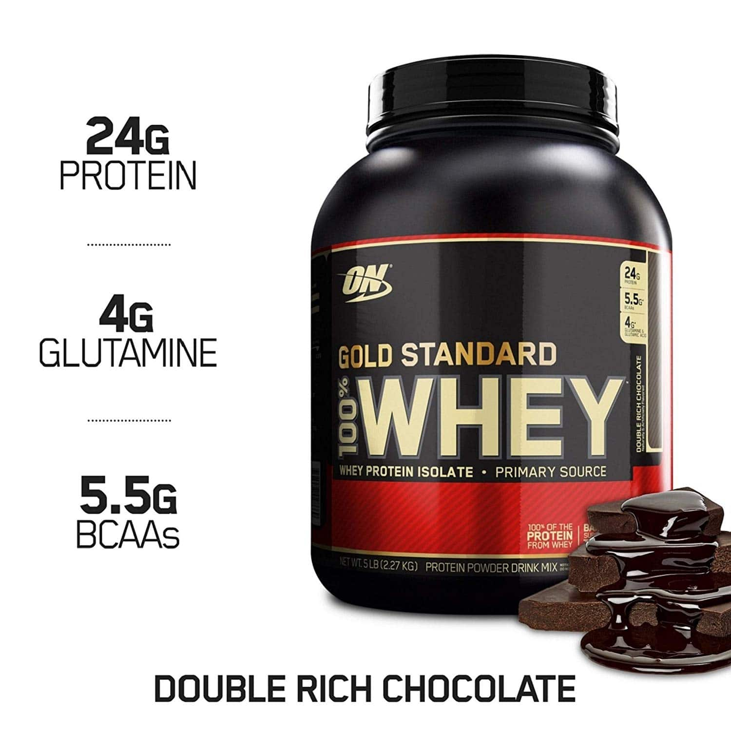 3 x Optimum Nutrition Gold Standard 100% Whey Protein Powder, Double Rich Chocolate, 5 Pound [Double Rich Chocolate] $104.7 before taxes. $104.67