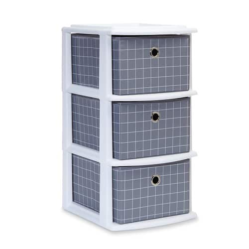 Homz Grid 3-Drawer Cart - Black/White (In store) $6.24 @Kmart $6.23