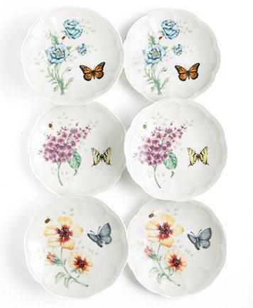 Lenox Dinnerware Set of 6 Butterfly Meadow Party Plates $27.99@macys