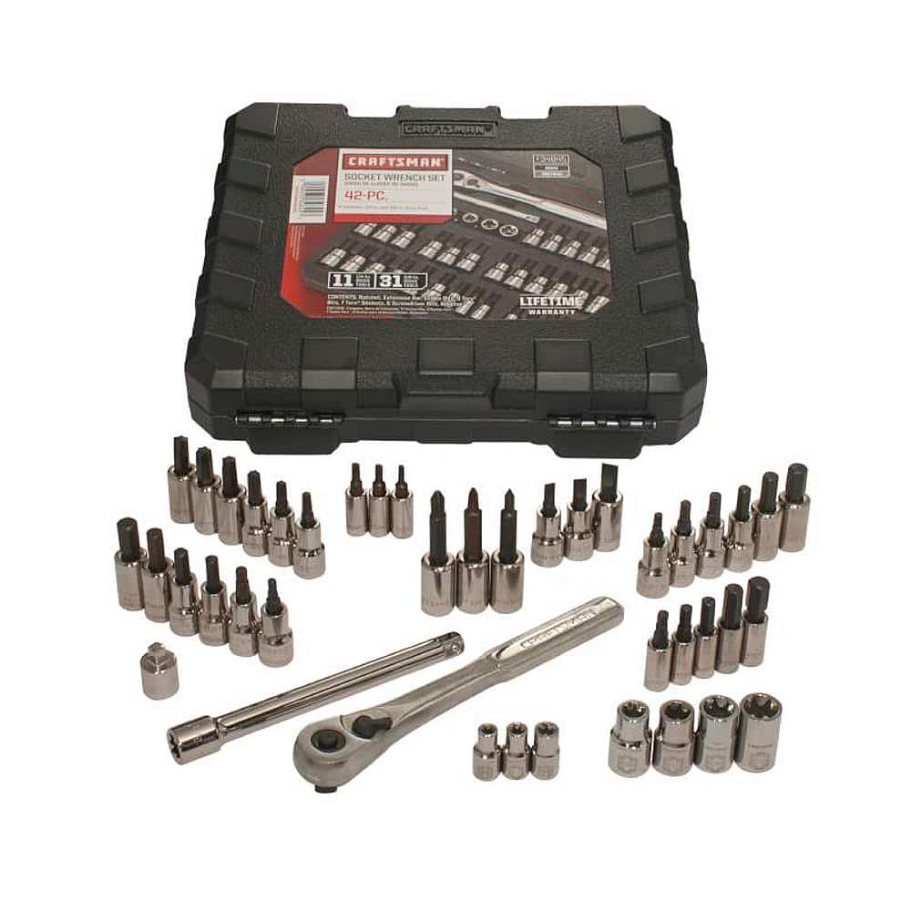 $26.99  Craftsman 34845 42 piece 1/4 and 3/8-inch Drive Bit and Torx Bit Socket Wrench Set