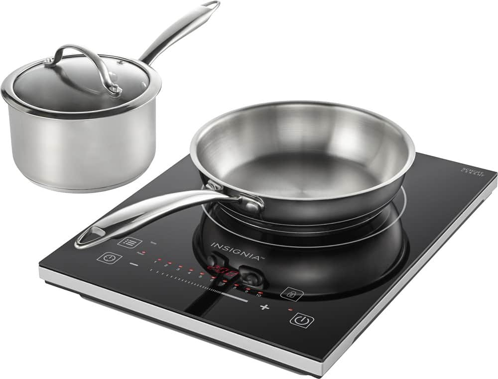 $49.99 + F/S Insignia™ - 4-Piece Induction Cooktop Set - Black