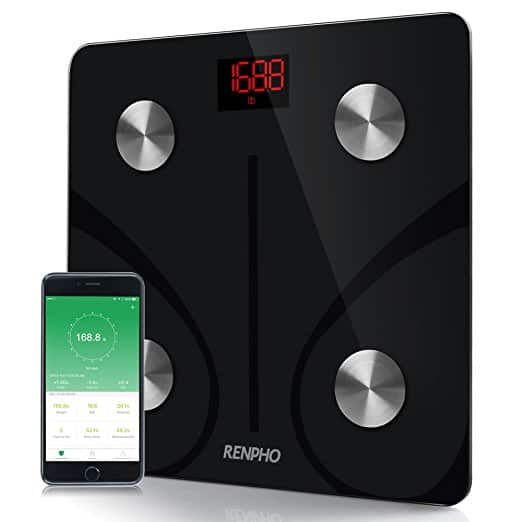 RENPHO Bluetooth Body Fat Scale, Body Weight, Body Fat, BMI,for $22  w/FS @ Amazon
