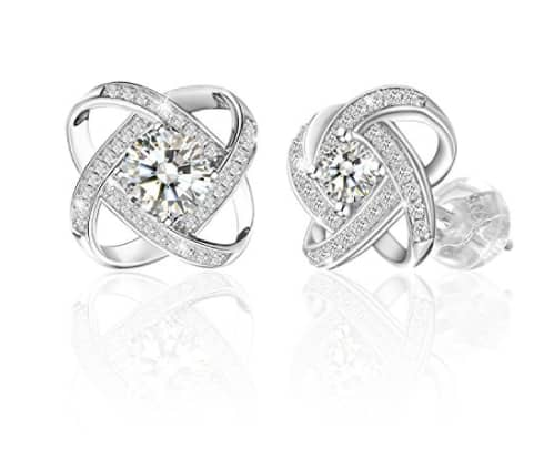 """Jewelry 925 Sterling Silver Earrings Stud """"Never Ever Be Apart"""" for $18.11 @ Amazon"""