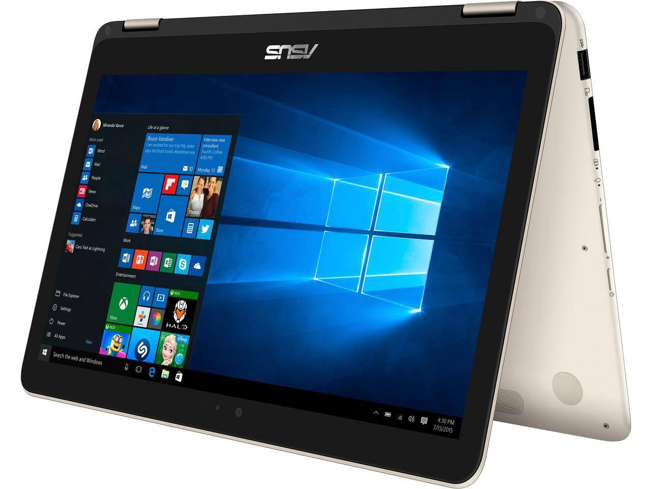 $599.00 ASUS ZenBook Flip UX360CA-UBM2T-GD Signature Edition 2-in-1 Laptop