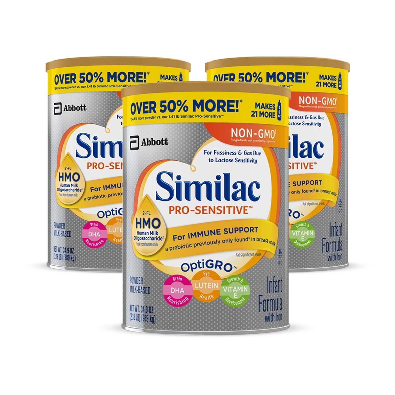 LIVE AGAIN - 3-Pack 36oz Similac Pro-Advance Non-GMO Infant Formula w/ Iron $58.43