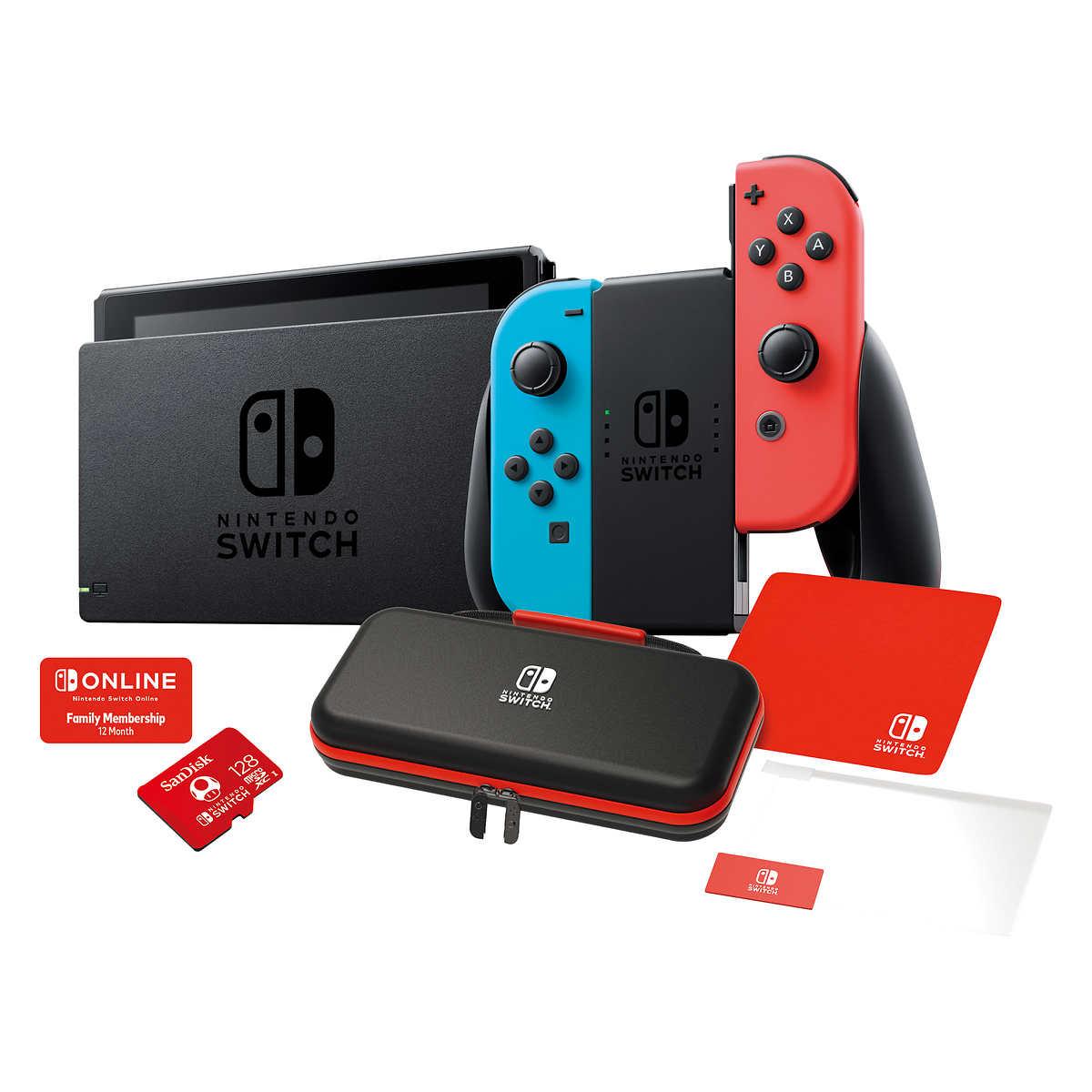 Costco.com Nintendo Switch $350 with 12 month nintendo online Neon Red Joy cons