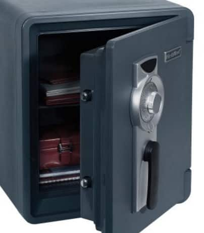 Walmart , First Alert .94 Cu.Ft. Bolt-Down Combination Waterproof / Fire Resistant Safe 2087F-BD Bolt Down $105 in store. YMMV