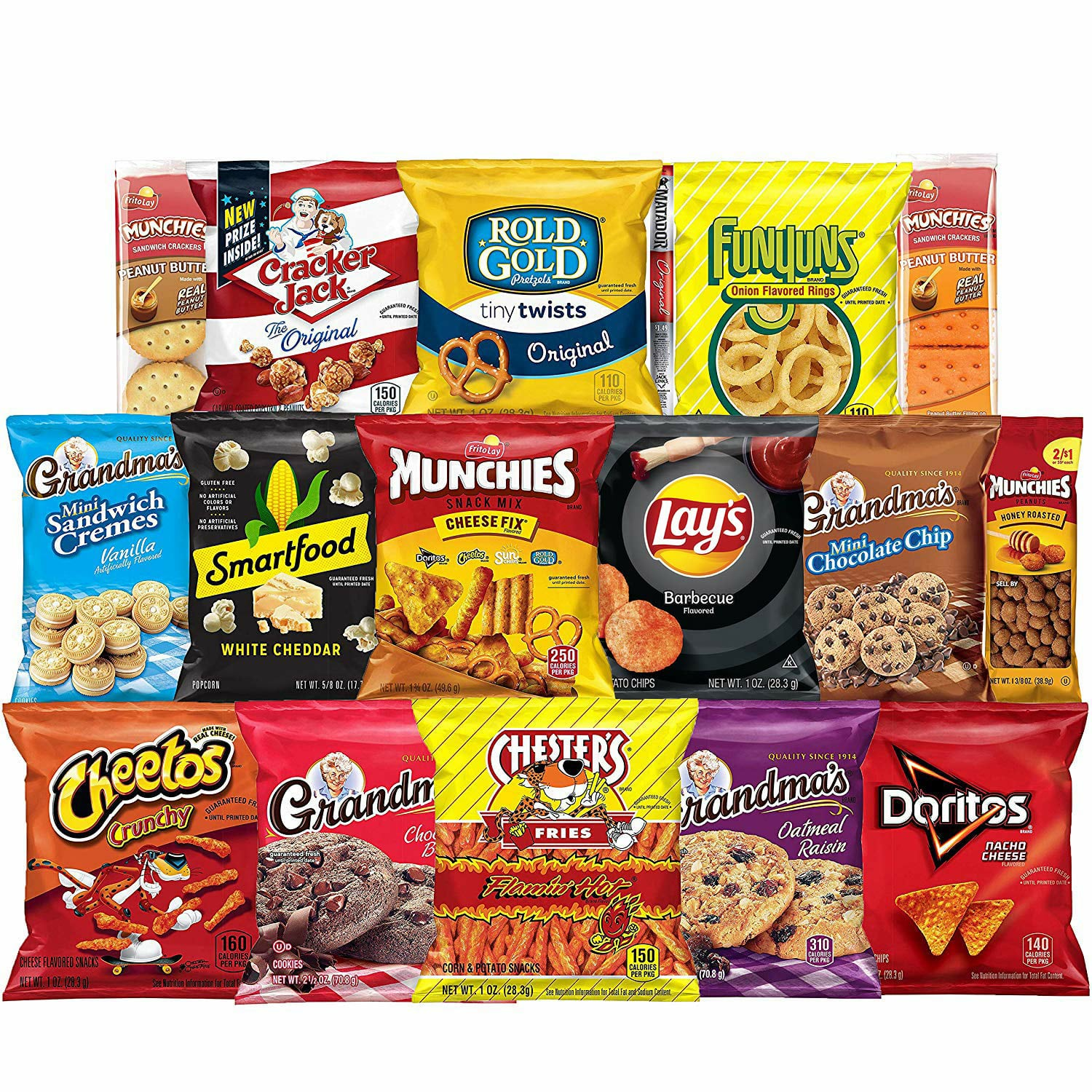 Amazon.com : Frito-Lay Ultimate Snack Care Package, Variety Assortment of Chips, Cookies, Crackers & More, 40 Count : Everything Else $14.23