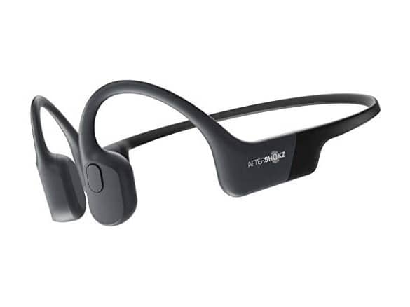AfterShokz Aeropex Open-Ear Wireless Bone Conduction Headphones, Cosmic Black $99