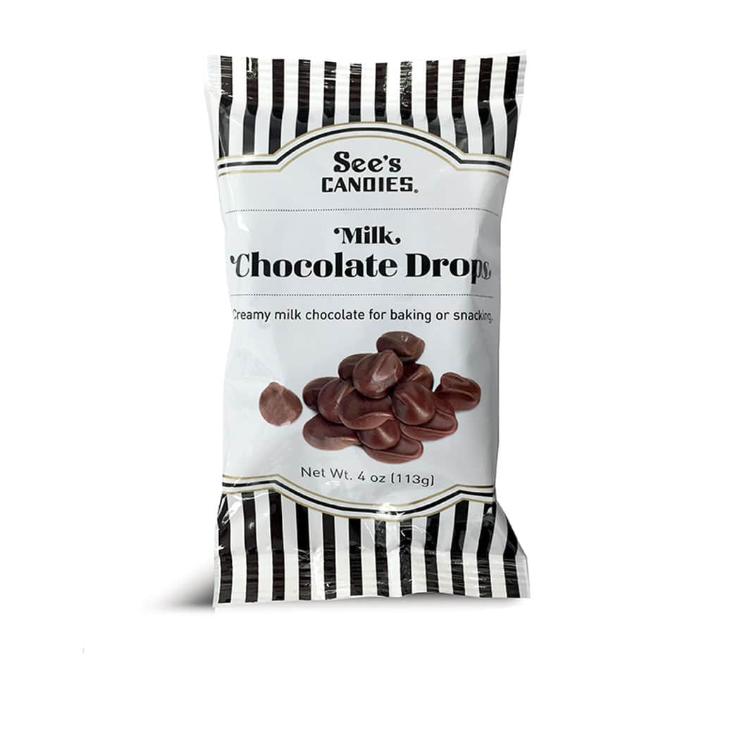 4 oz Milk Chocolate Drops | See's Candies $3.35