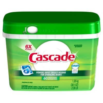 Cascade ActionPacs Dishwasher Detergent, Fresh Scent, 180 Count (3x60 count packs) - 29.61$ (plus $10 Target Gift card)