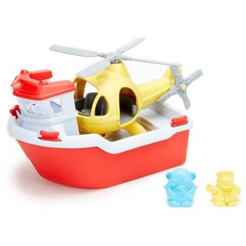 Green Toys Rescue Boat with Helicopter $16.23 at Amazon