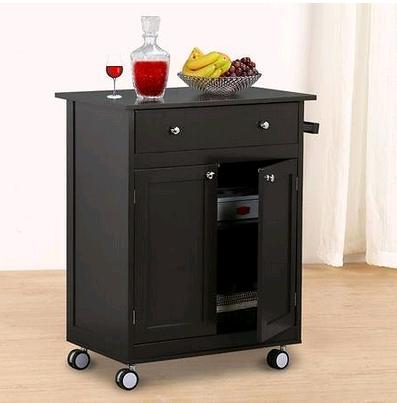 Yaheetech Wood Single Drawer Kitchen Cabinet Storage, Coffee $81.99 + fs