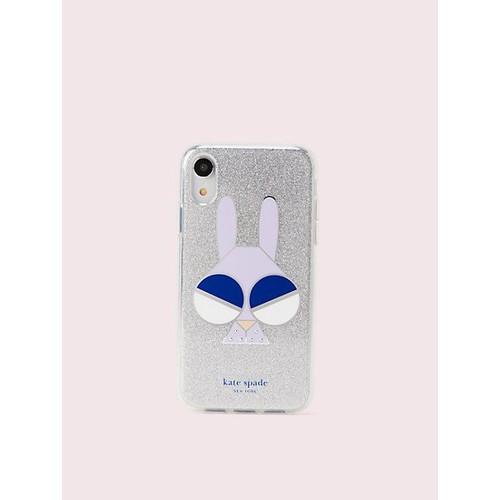 spademals glitter bunny iphone xr case $18.9