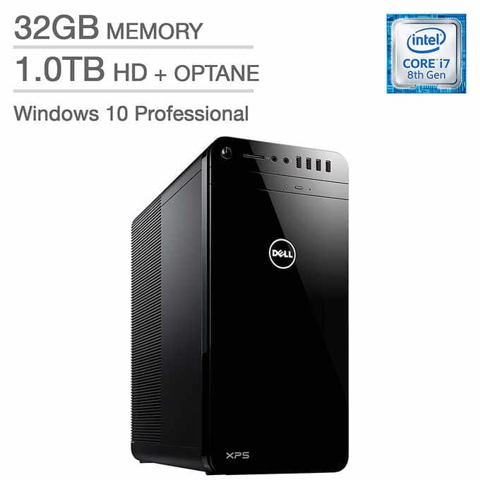 Dell XPS Tower 8th Gen Intel Core i7 - 6GB NVIDIA 1060 - 32GB RAM $1200