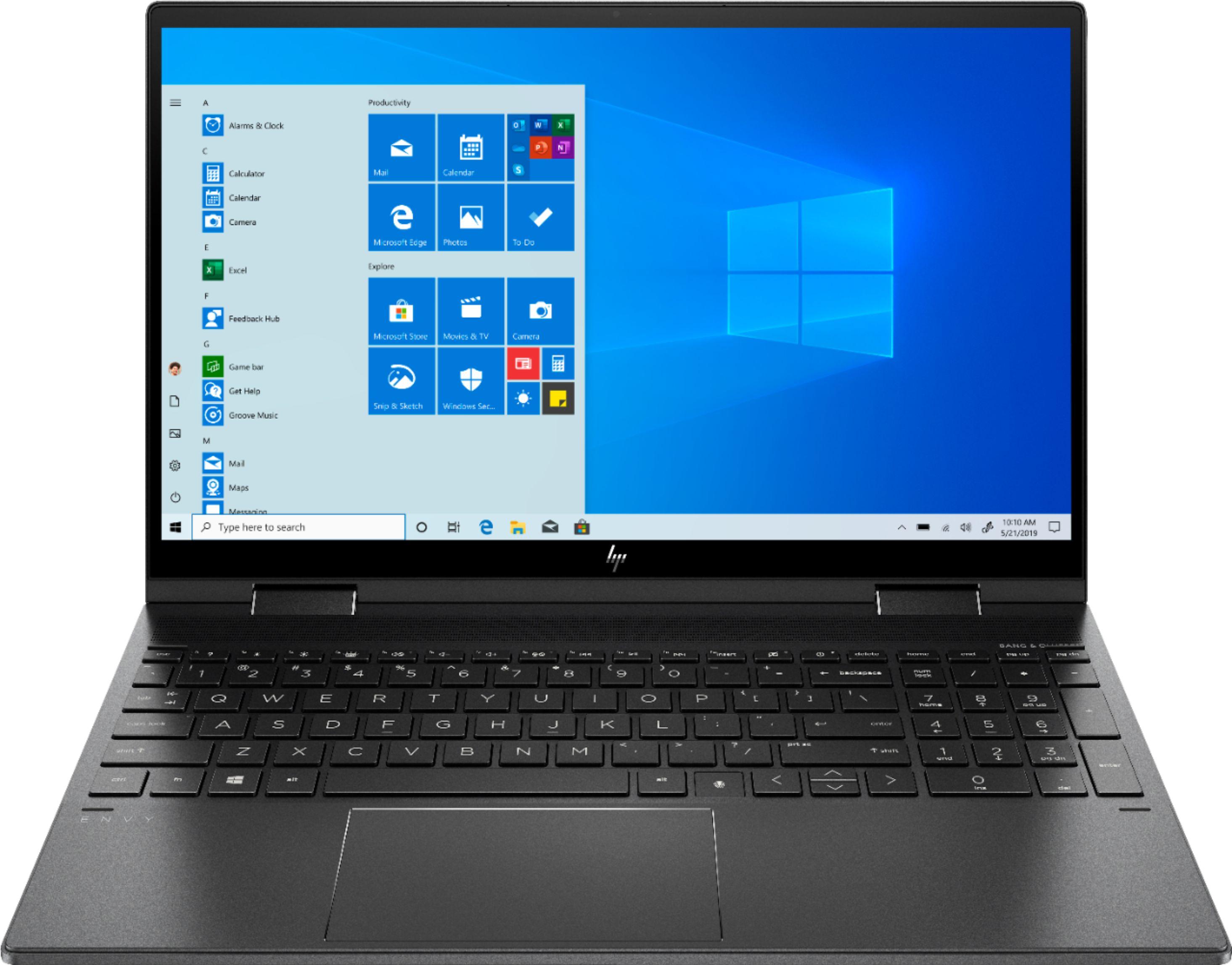 "HP - ENVY x360 2-in-1 15.6"" Touch-Screen Laptop - AMD Ryzen 7 - 8GB Memory - 512GB SSD - Nightfall Black $699.99"