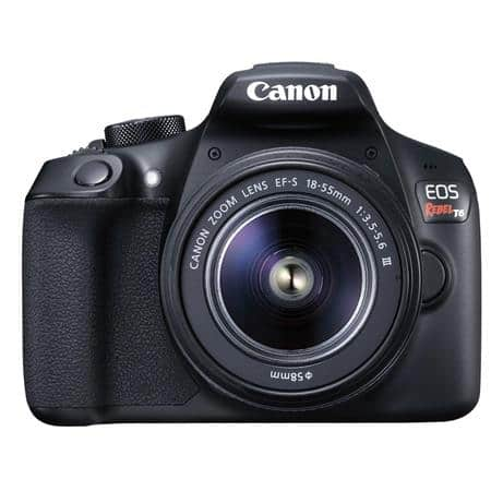 Canon EOS Rebel T6 DSLR with 18-55mm IS & 75-300mm III Lens and Free Accessories - Adorama $399.99