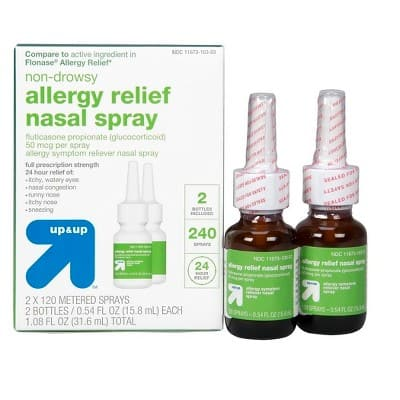 Fluticasone Propionate Allergy Relief 2x120 Metered Spray - Up and Up Brand Target $14.71