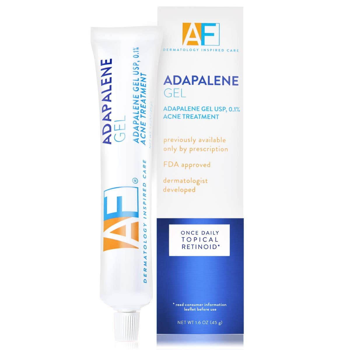 Acne Free Adapalene Gel 0.1%, Once-Daily Topical Retinoid Acne Treatment, 45 Gram, 90 Day Supply  - Amazon $18.04 S&S